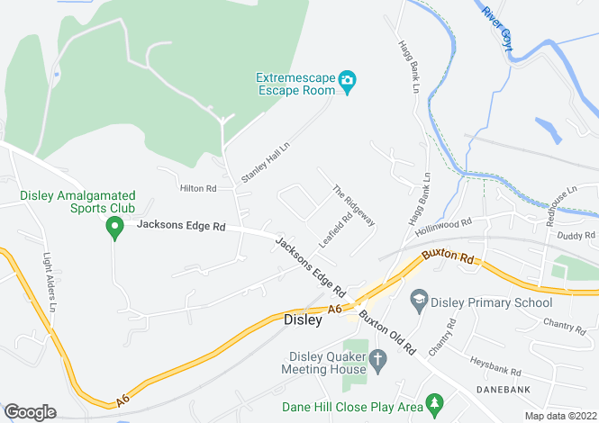 Map for MARTLET AVENUE, DISLEY, STOCKPORT SK12