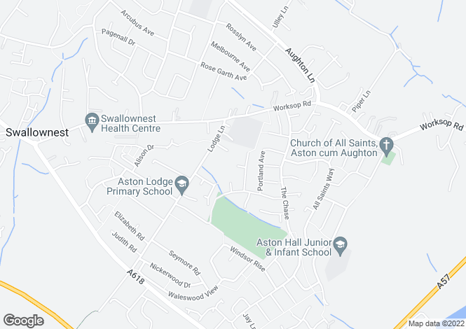 Map for Newington Drive, Aston, SHEFFIELD