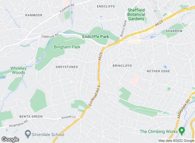 Map for Fine & Country, Sheffield