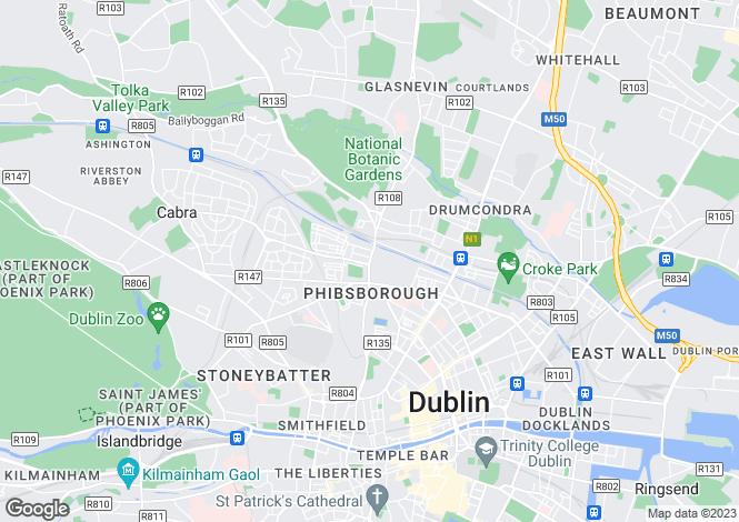 Map for 134 Phibsboro Road, Phibsboro,   Dublin 7