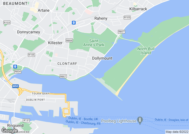 Map for 2 Bed Apartments, Seascape, Clontarf, Dublin 3