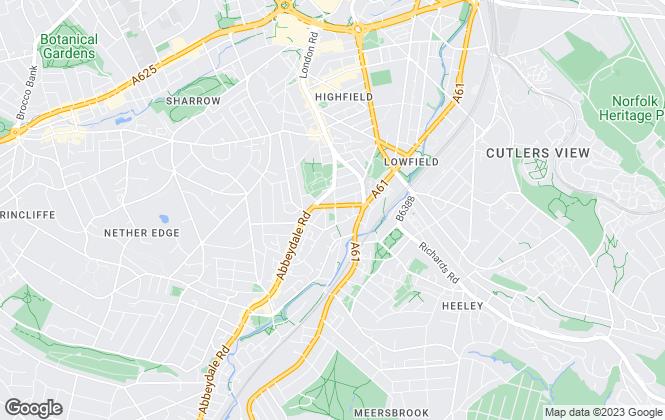Map for UK Legal Estates ltd, Sheffield