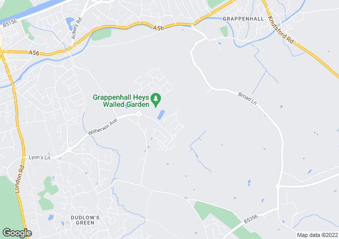 Map for Dashwood Close, Grappenhall Heys