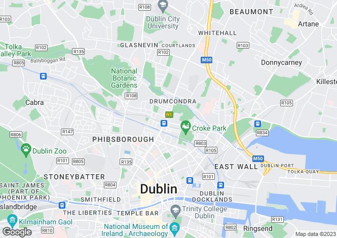 Map for 55 Lower Drumcondra Road , Drumcondra, Dublin 9
