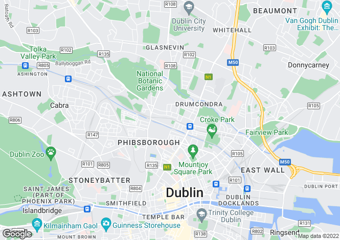 Map for 6 Claude Road, Drumcondra, Dublin 9
