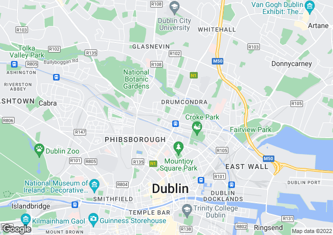 Map for 16 St Brigid's Road Upper, Drumcondra, Dublin 9, D09 H7W1