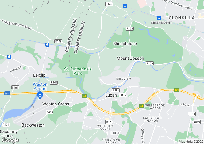 Map for Four Bed Detached Bungalow, Rokeby Park, Lucan, Co Dublin