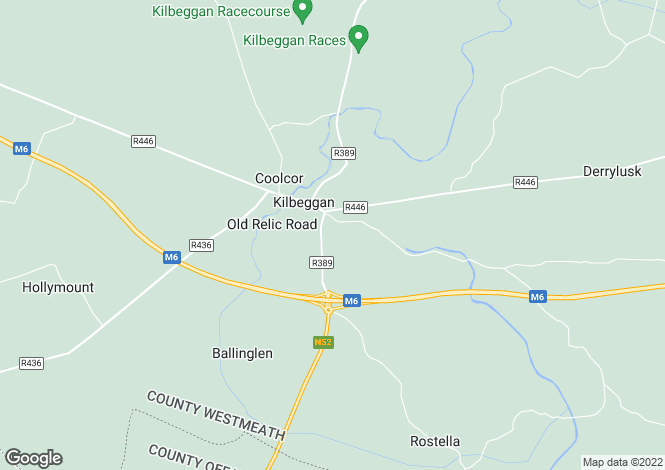 Map for Rostella, Kilbeggan, Westmeath