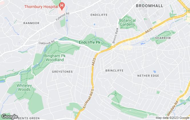 Map for Preston Baker, Sheffield