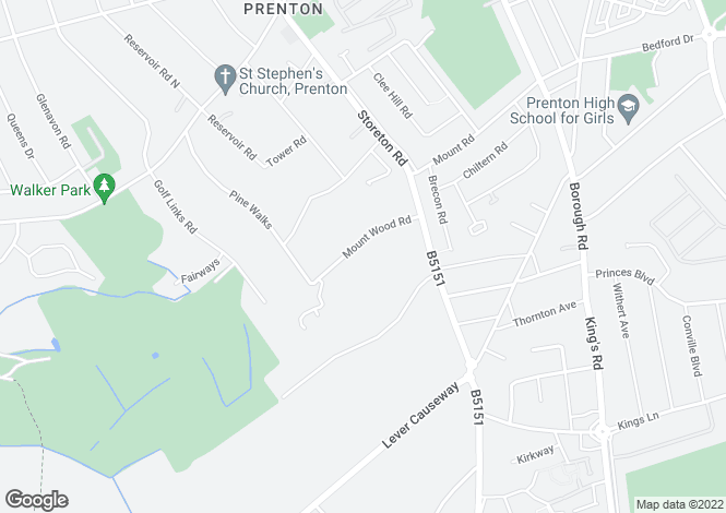 Map for Mountwood Road, Prenton, CH42