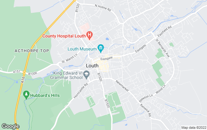 Map for Crofts Estate Agents, Louth