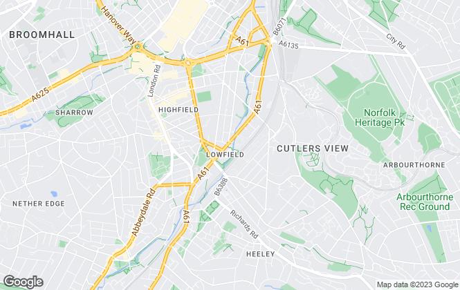 Map for Big Yellow Self Storage Co Ltd, Big Yellow Sheffield, Bramhall Lane