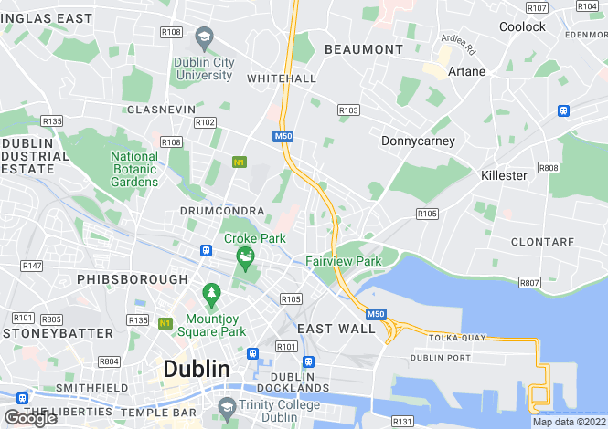 Map for Philipsburgh Avenue, Fairview, Dublin 3