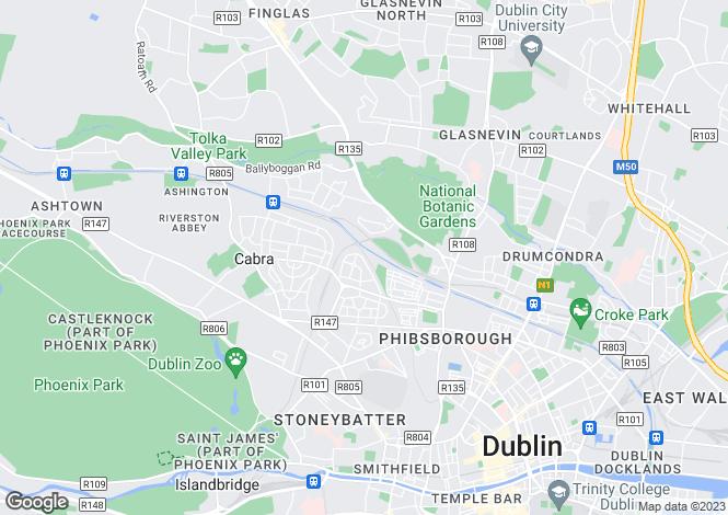 Map for 169 St Attracta Road , Cabra, Dublin 7