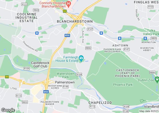 Map for 3 Cedar Lodge, Farmleigh, Castleknock, Dublin 15