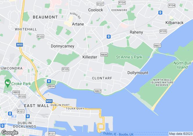 Map for 44 Grosvenor Court, Clontarf, Dublin 3