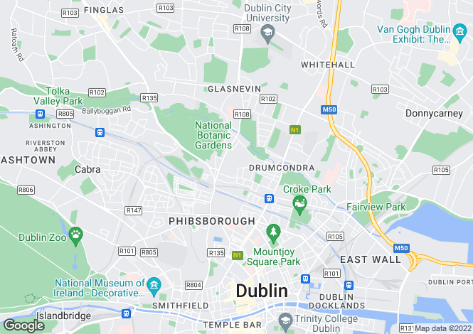 Map for 8 Iona Crescent, Glasnevin, Dublin 9