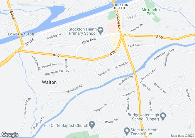 Map for Whitefield Road, Stockton Heath, Warrington
