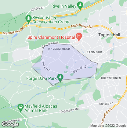 Map of property in Fulwood