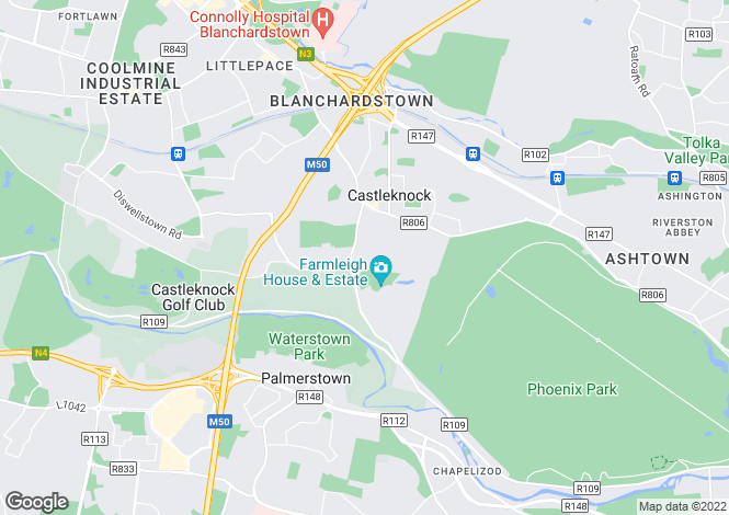 Map for 3 Farmleigh Avenue, Castleknock, Dublin 15
