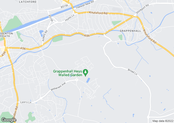 Map for Bourchier Way; Grappenhall Heys; WA4