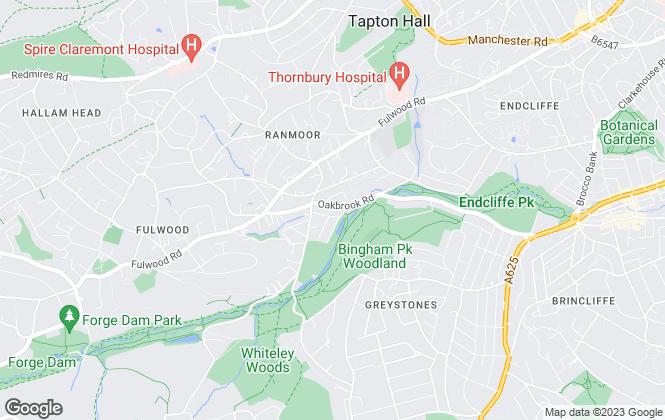 Map for Evans Lee, Sheffield