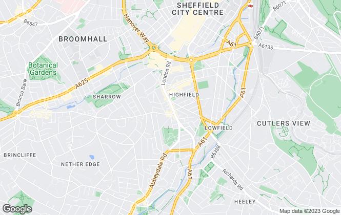 Map for Goldsmiths Estates, Sheffield