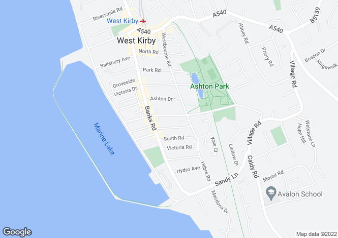 Map for 40a, Church Road, West Kirby, Wirral