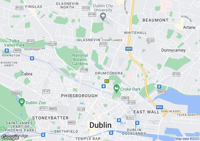 Map for 88 Botanic Avenue, Drumcondra, Dublin 9