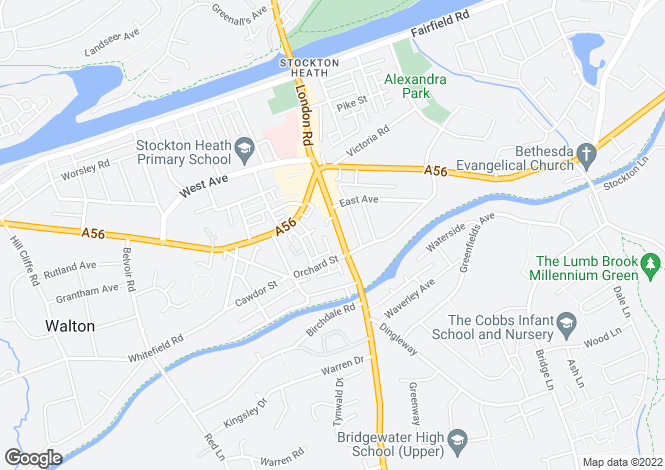 Map for London Road; Stockton Heath; WA4