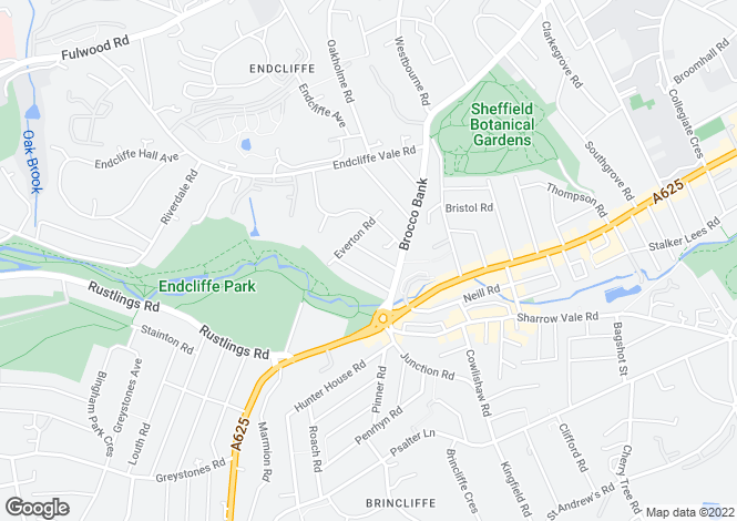 Map for Newington Road, Sheffield S11