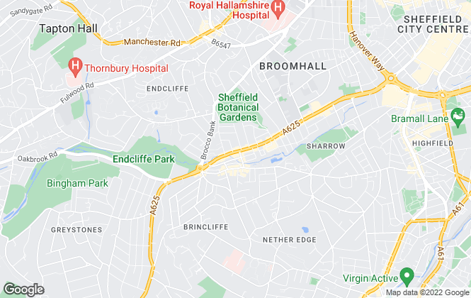 Map for Salis Properties Limited, Sheffield