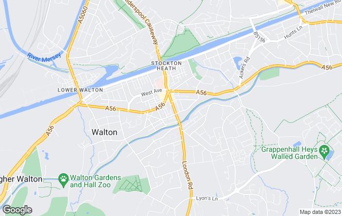 Map for Cowdel Clarke, Stockton Heath Lettings
