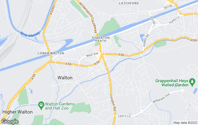 Map for Ashall Glover, Stockton Heath