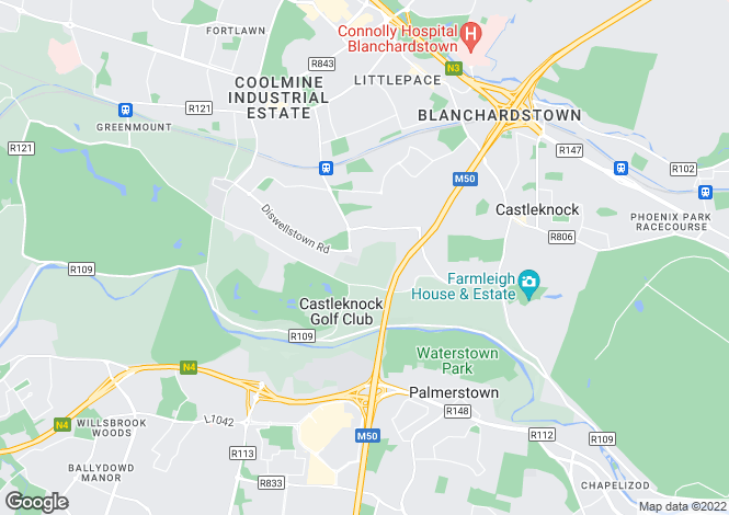 Map for 3 Bed House, Hamilton Park, Castleknock, Dublin 15