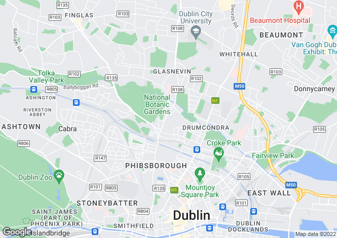 Map for 8 Cliftonville Road , Glasnevin, Dublin 9