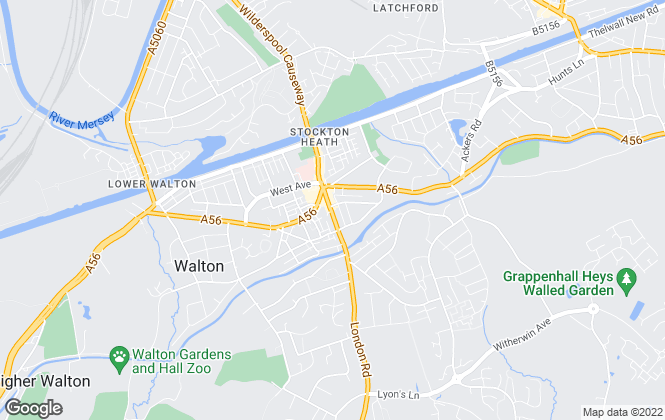 Map for Bridgfords Lettings, Stockton Heath, Warrington