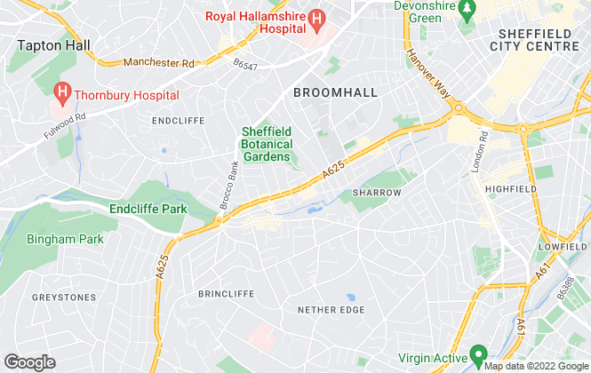 Map for easyProperty, Sheffield