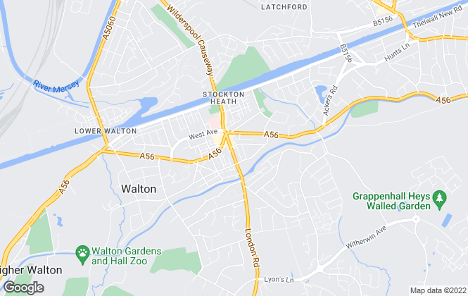 Map for Edward Mellor Ltd, Stockton Heath