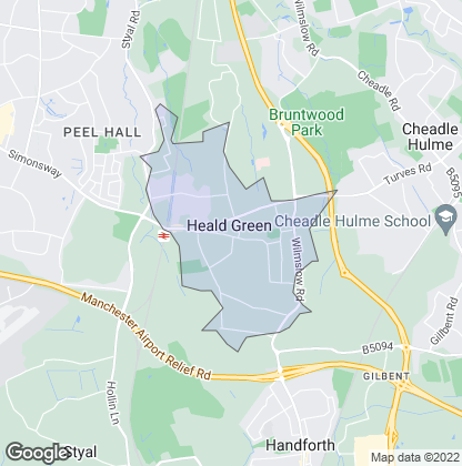Map of property in Heald Green