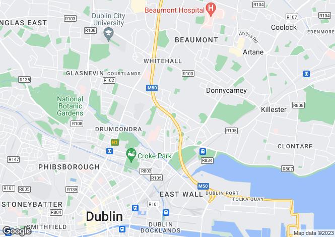 Map for 172 Philipsburgh, Fairview, Dublin 3