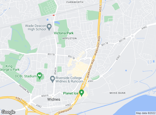 Map for Abbeyfords Estate Agents, Widnes