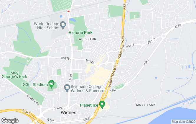 Map for Entwistle Green, Widnes
