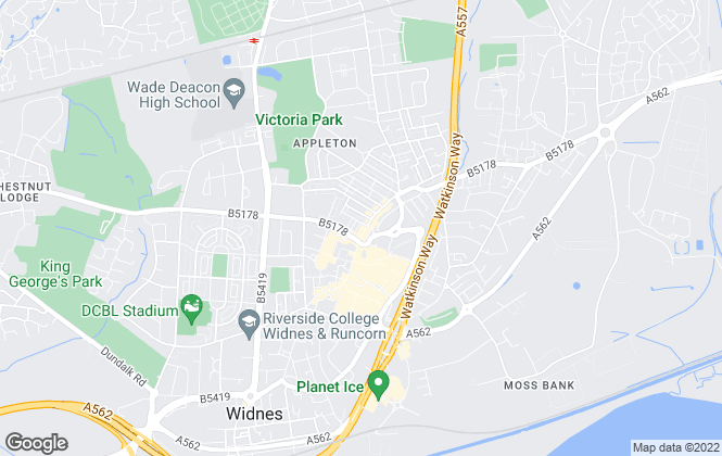 Map for Adams Estate Agents, Widnes