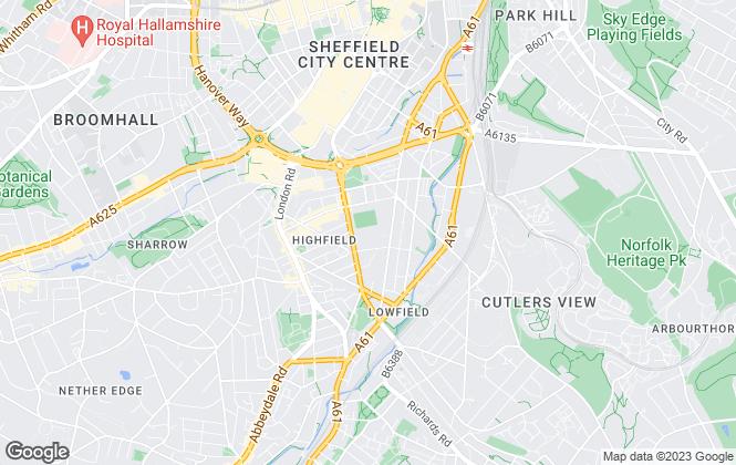 Map for U-Do, Sheffield