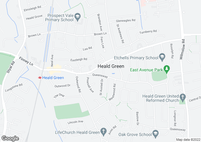 Map for Ash Grove, Heald Green