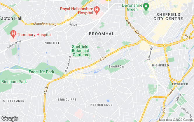Map for PC Properties, Sheffield