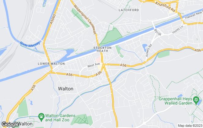 Map for Bridgfords, Stockton Heath