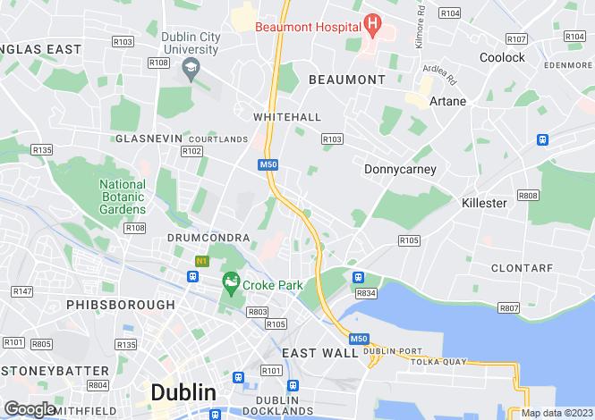 Map for 194 Philipsburgh Avenue, Marino, Dublin 3