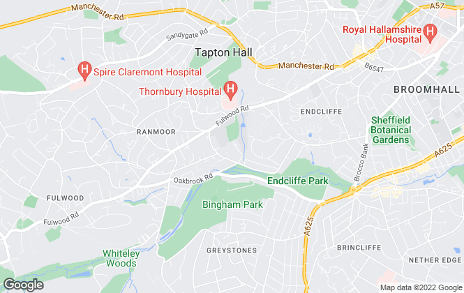 Map for Rentspace Limited, Sheffield